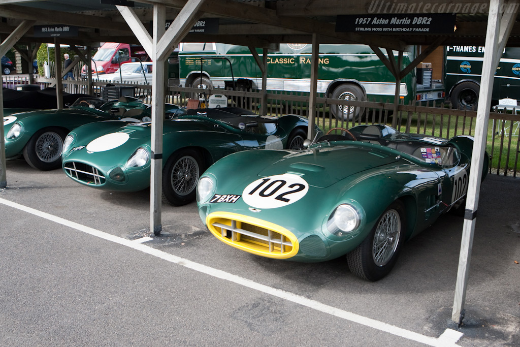 The two Aston Martin DBR2s reunited - Chassis: DBR2/2 - Entrant: Greg Whitten  - 2009 Goodwood Revival