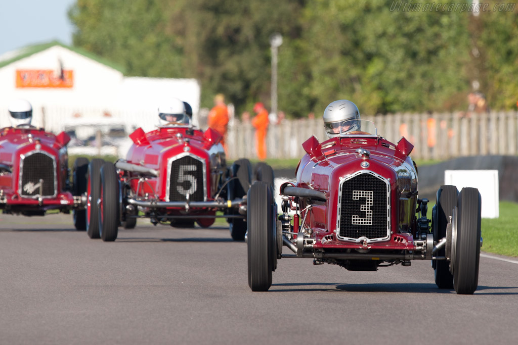 Four Alfa Romeo Tipo Bs    - 2010 Goodwood Revival