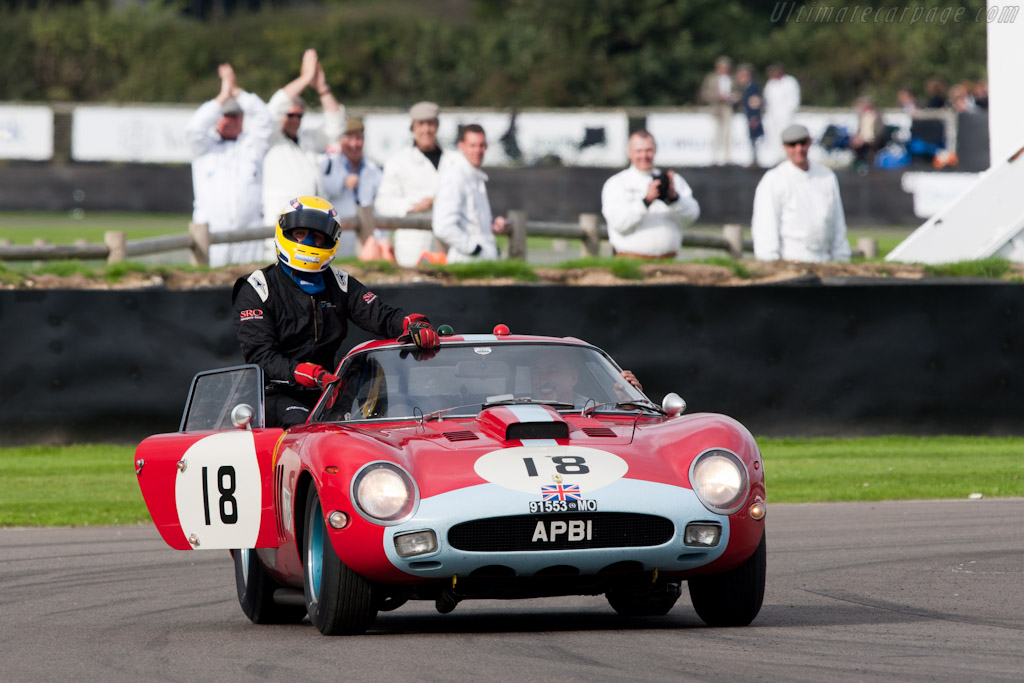 Jean-Marc Gounon celebrating the victory    - 2010 Goodwood Revival