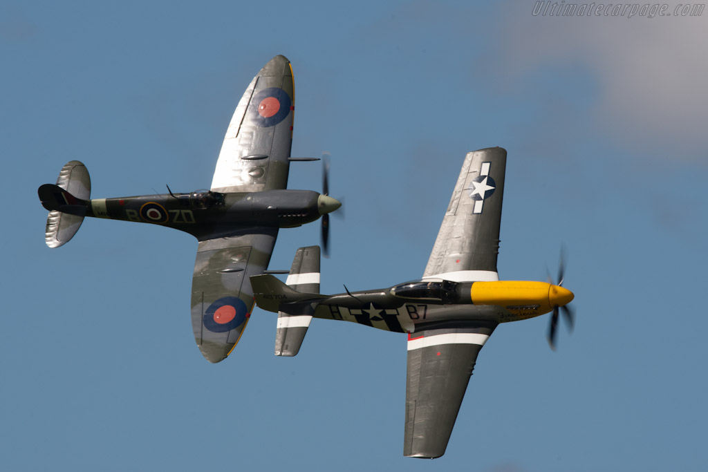Spitfire and Mustang    - 2010 Goodwood Revival