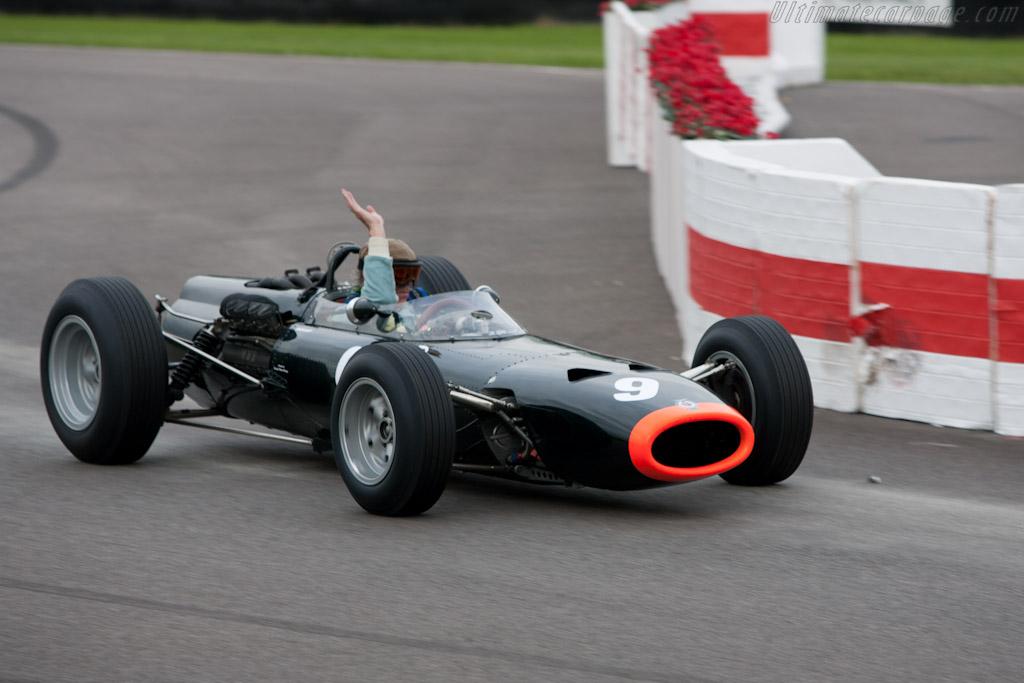 Winner Richard Attwood in his BRM P261    - 2010 Goodwood Revival