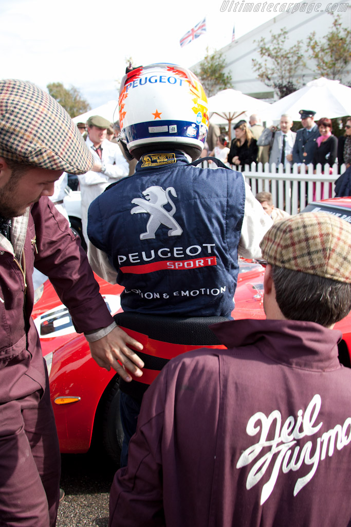 Duct-tape seat for Nicolas Minassian   - 2011 Goodwood Revival