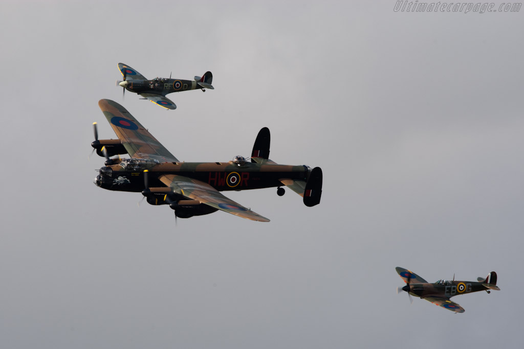 Lancaster and two Spitfires    - 2011 Goodwood Revival