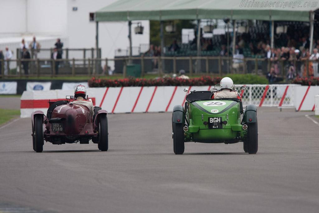 Alfa Romeo vs Talbot    - 2012 Goodwood Revival