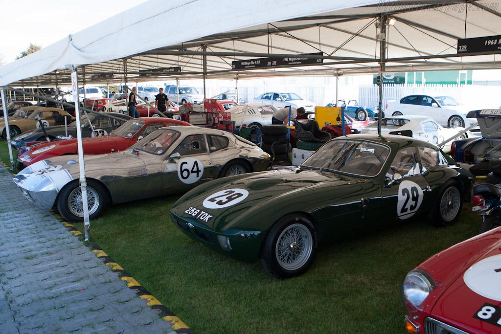 All four SLRs - Chassis: SLR3   - 2012 Goodwood Revival