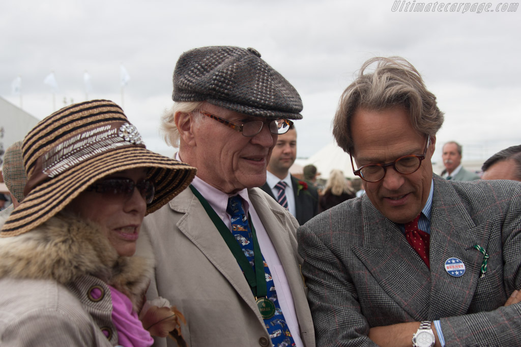 Evi and Dan Gurney with Lord March    - 2012 Goodwood Revival