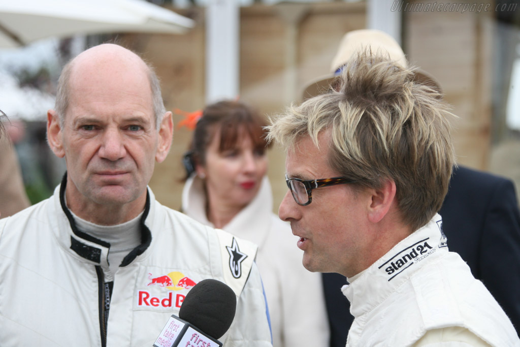 Adrian Newey and Kenny Brack    - 2013 Goodwood Revival