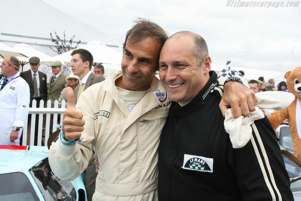 Emanuele Pirro and Shaun Lynn    - 2013 Goodwood Revival