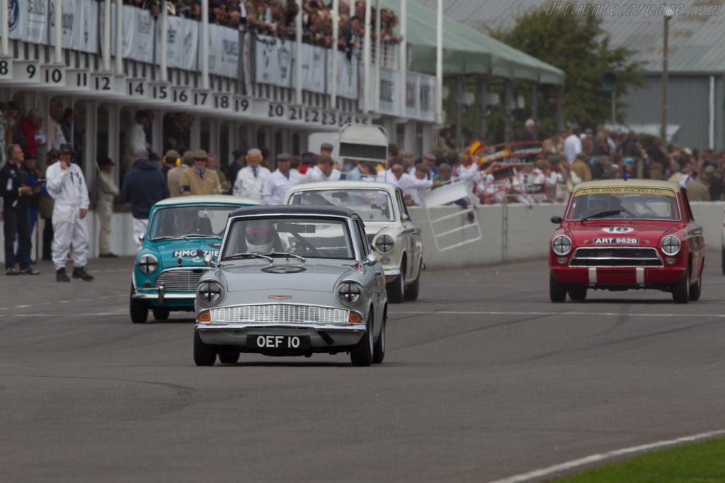 Ford Anglia 105E  - Entrant: Crispin Schlaefli - Driver: Peter Alexander  - 2013 Goodwood Revival