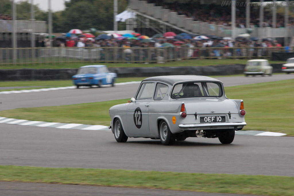 Ford Anglia 105E  - Entrant: Crispin Schlaefli - Driver: Tony Jardine  - 2013 Goodwood Revival