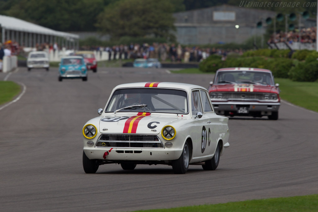 Lotus Cortina  - Driver: Shaun Lynn  - 2013 Goodwood Revival