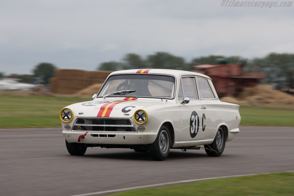 Lotus Cortina  - Entrant: Shaun Lynn - Driver: David Richards  - 2013 Goodwood Revival