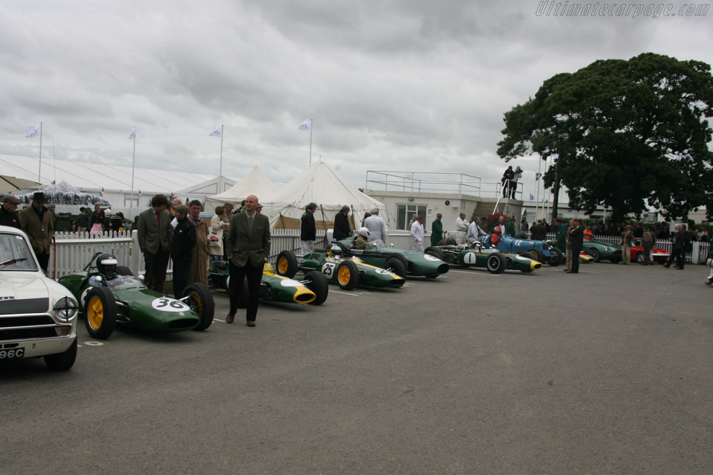 Lotus Line Up    - 2013 Goodwood Revival