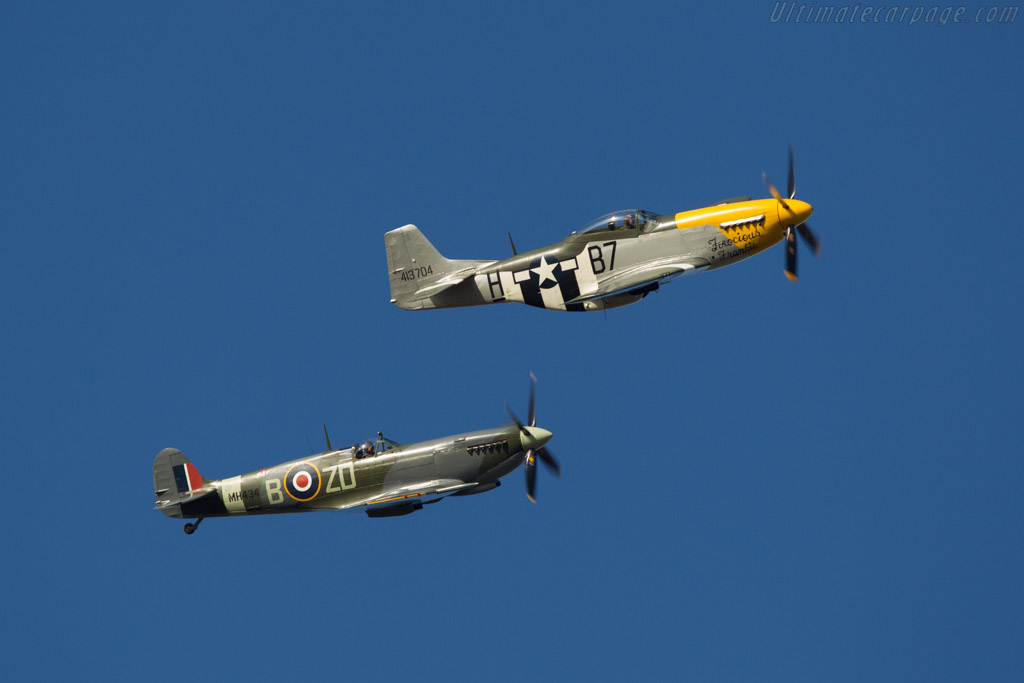 Spitfire and Mustang    - 2013 Goodwood Revival