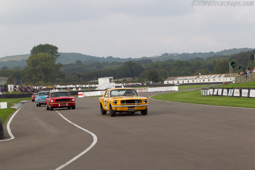 Ford Mustang  - Driver: Peter Hallford / Jackie Oliver  - 2014 Goodwood Revival