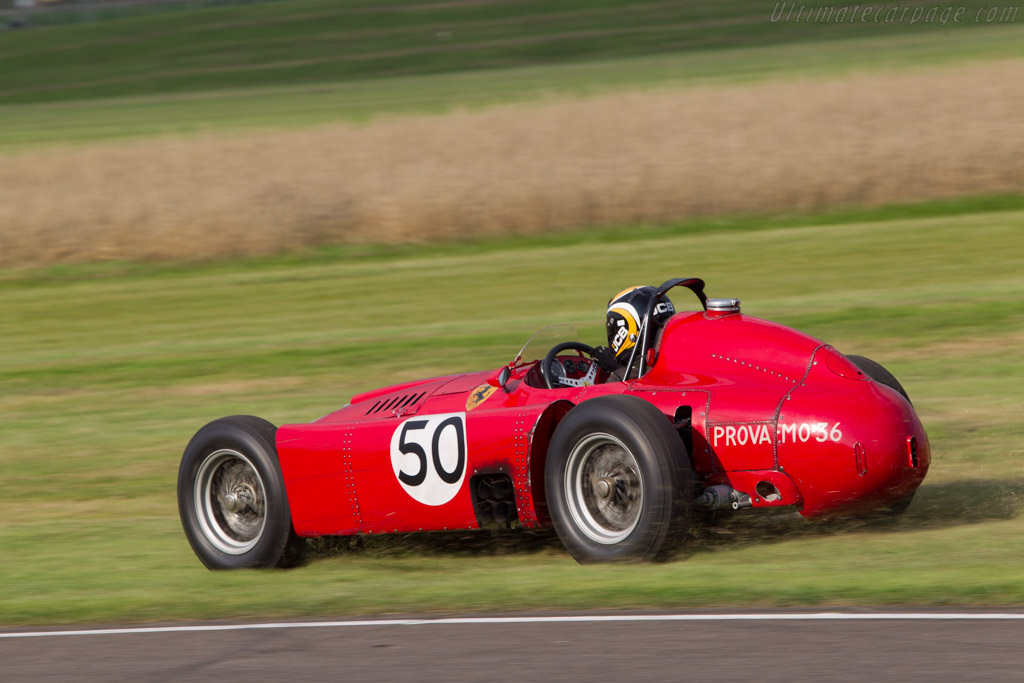 Lancia-Ferrari D50A - Chassis: R1 - Entrant: Anthony Bamford - Driver: Andrew Newall  - 2014 Goodwood Revival