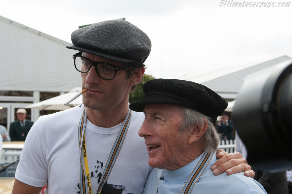 Mark Webber & Jackie Stewart    - 2014 Goodwood Revival