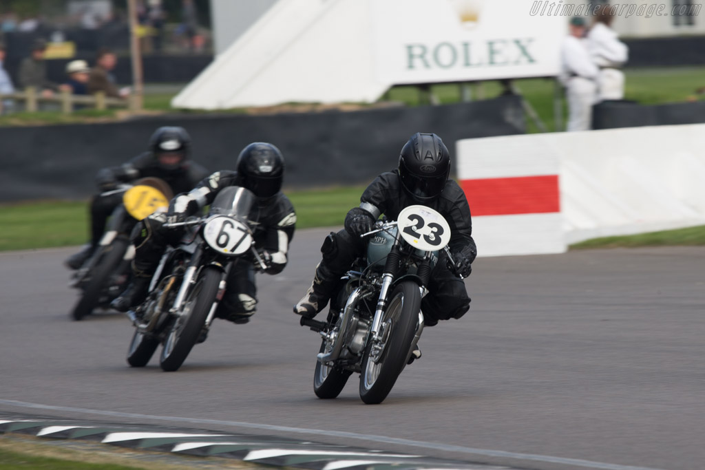 Triumph T110  - Entrant: Ace Classic - Driver: Howie Mainwaring / Kevin Rushworth  - 2014 Goodwood Revival