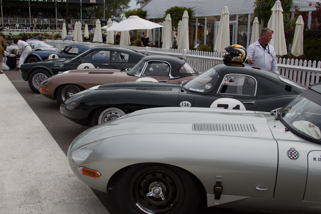 Jaguar E-Type - Chassis: 850010 - Entrant: Reial Auto Club Catalunya - Driver: Joaquin Folch-Rusinol / Martin Stretton  - 2015 Goodwood Revival