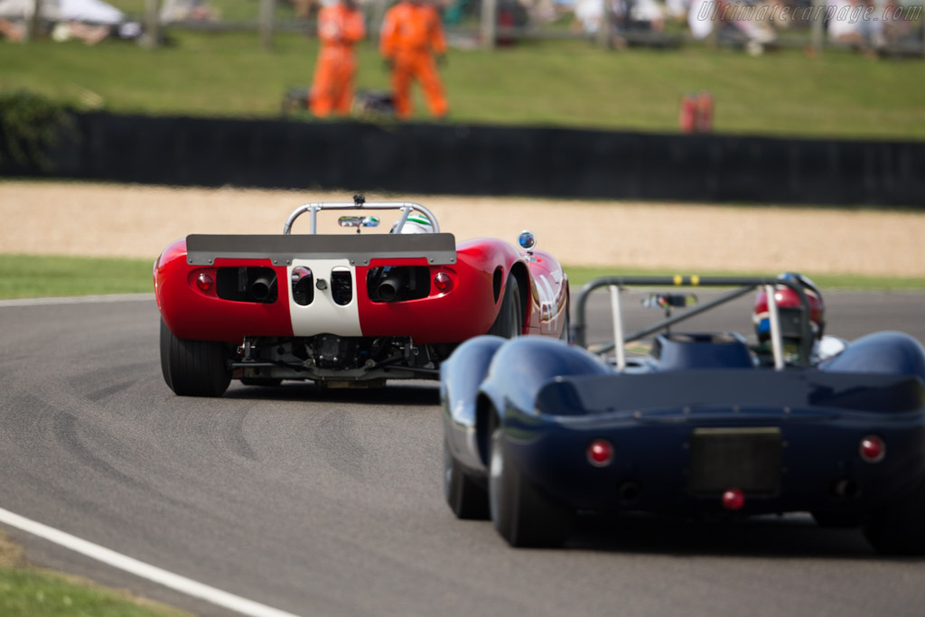 Lola T70 Mk2 Spyder - Chassis: SL71/48 - Entrant: Philip Hall - Driver: Nick Padmore  - 2015 Goodwood Revival