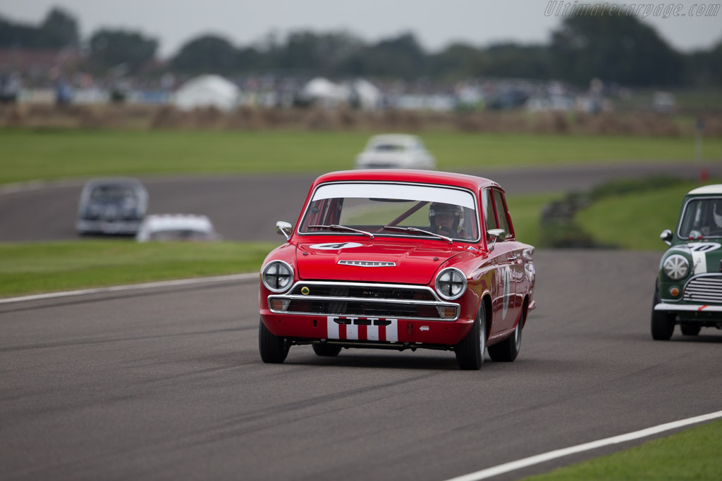 Lotus Cortina  - Entrant: Howard Wise - Driver: John Young  - 2015 Goodwood Revival