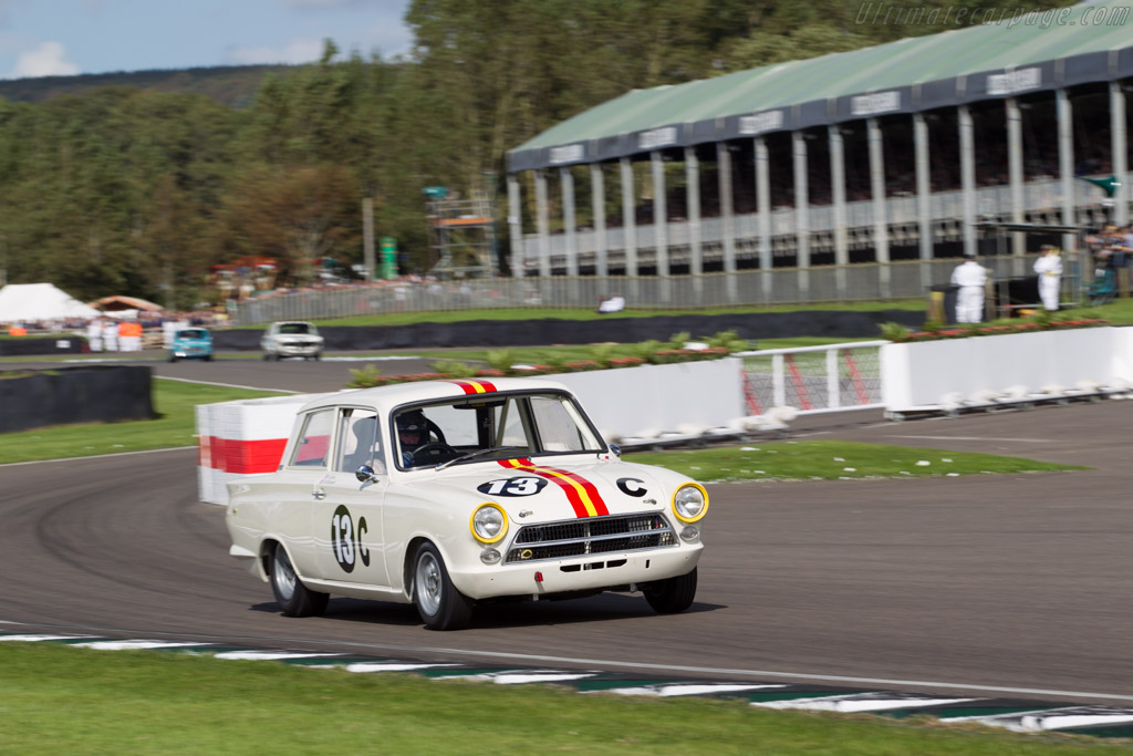 Lotus Cortina  - Entrant: Shaun Lynn - Driver: David Richards  - 2015 Goodwood Revival