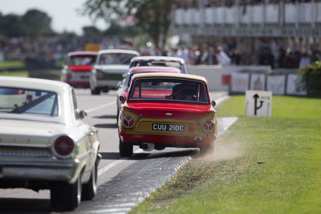 Lotus Cortina  - Entrant: Gavin Henderson - Driver: Mat Jackson  - 2015 Goodwood Revival