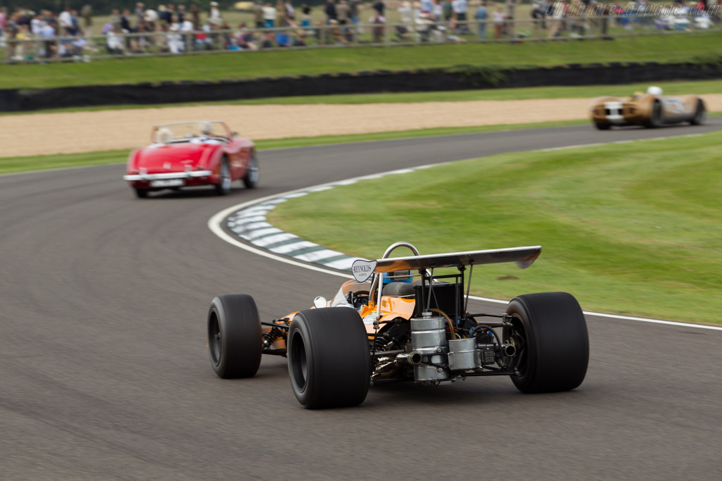 McLaren M14A Cosworth - Chassis: M14A/2 - Entrant: ROFGO Collection - Driver: Darren Turner  - 2015 Goodwood Revival