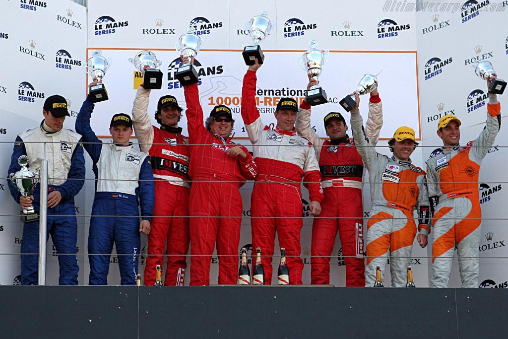 GT2 podium    - 2006 Le Mans Series Nurburgring 1000 km