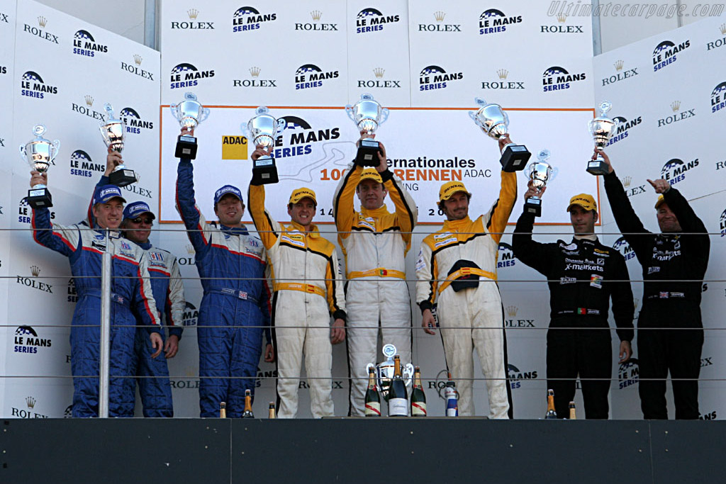 Six happy and two sour faces    - 2006 Le Mans Series Nurburgring 1000 km