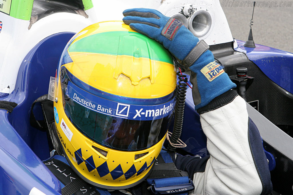 Joao Barbosa Scratching his head - Chassis: 01-04 - Entrant: Rollcentre Racing  - 2007 Le Mans Series Nurburgring 1000 km