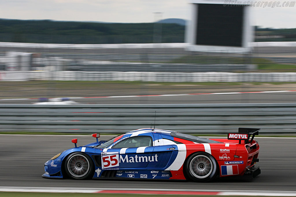 Lighting up the discs on the way to pole - Chassis: 066R - Entrant: Team Oreca  - 2007 Le Mans Series Nurburgring 1000 km