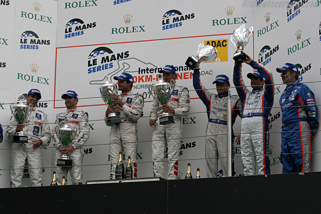 The P1 podium    - 2007 Le Mans Series Nurburgring 1000 km