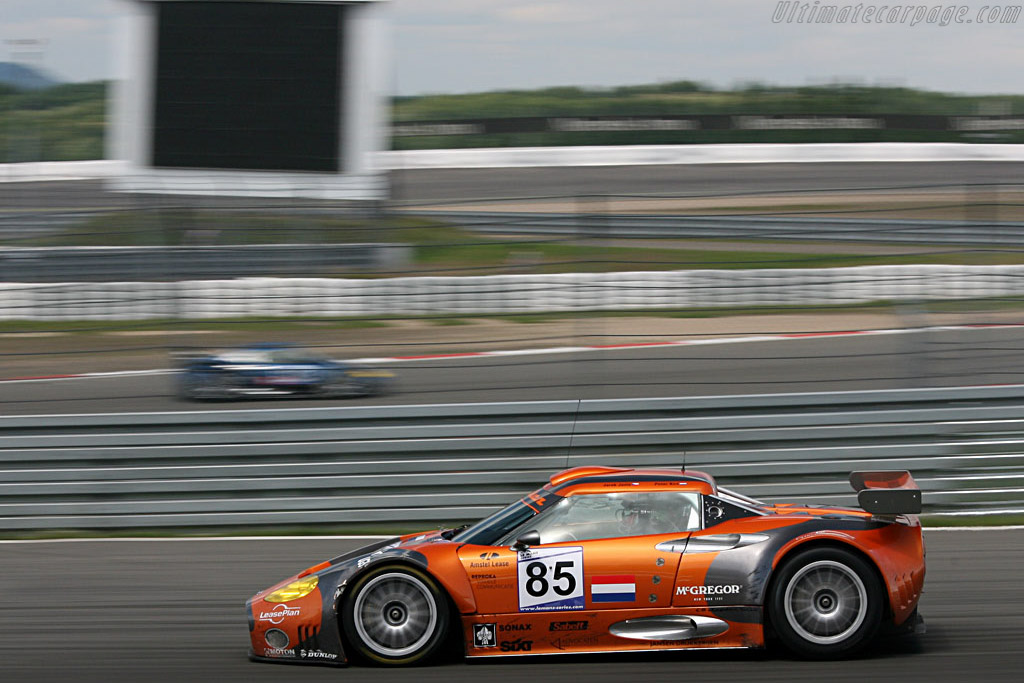 The Spykers going in opposite direction - Chassis: XL9GB11H150363098 - Entrant: Spyker Squadron  - 2007 Le Mans Series Nurburgring 1000 km