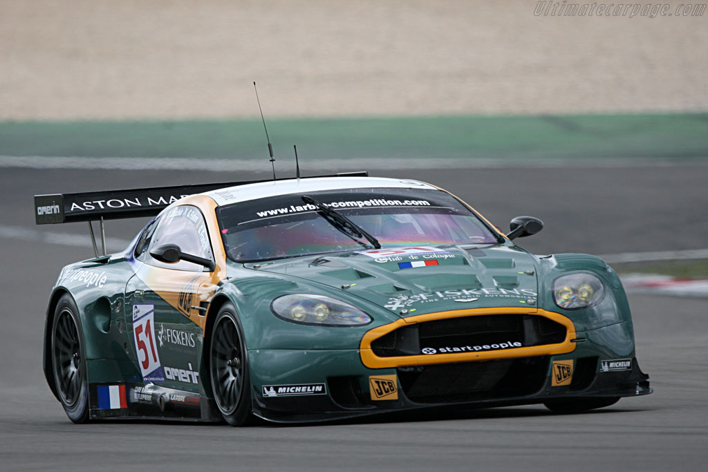 The only Aston out early on Friday - Chassis: DBR9/1 - Entrant: AMR Larbre  - 2007 Le Mans Series Nurburgring 1000 km
