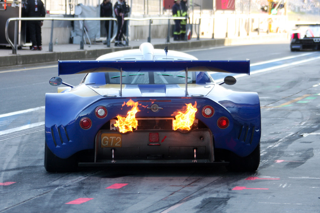 Flames! - Chassis: XL9AB01G37Z363190   - 2009 Le Mans Series Nurburgring 1000 km
