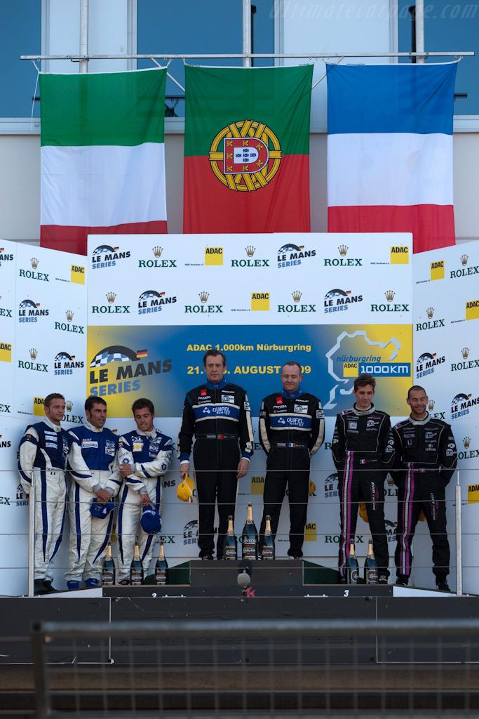 LMP2 podium    - 2009 Le Mans Series Nurburgring 1000 km