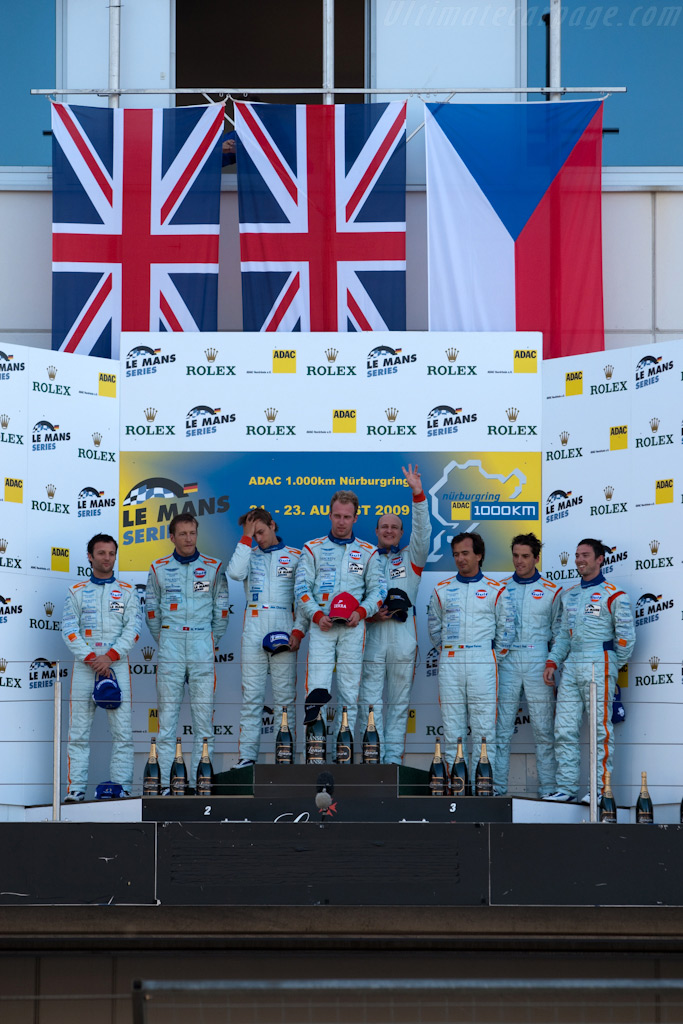 Powder blue podium    - 2009 Le Mans Series Nurburgring 1000 km