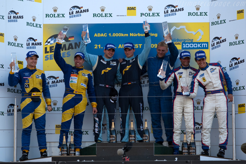 The GT2 podium    - 2009 Le Mans Series Nurburgring 1000 km