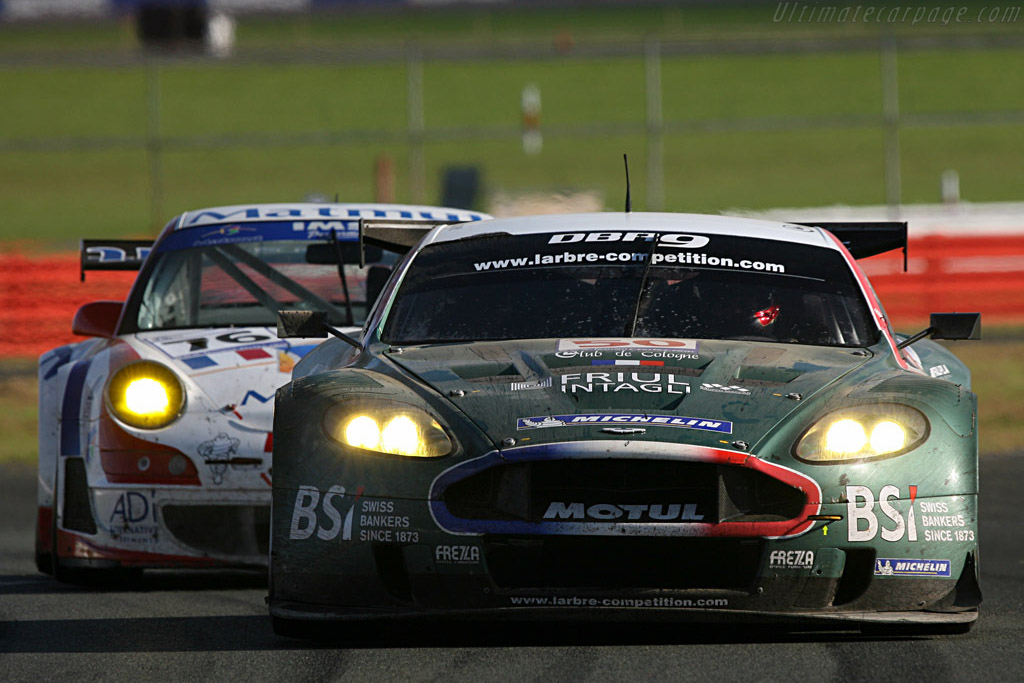 Dust and retirement for the #50 Larbre - Chassis: DBR9/2 - Entrant: AMR Larbre  - 2007 Le Mans Series Silverstone 1000 km