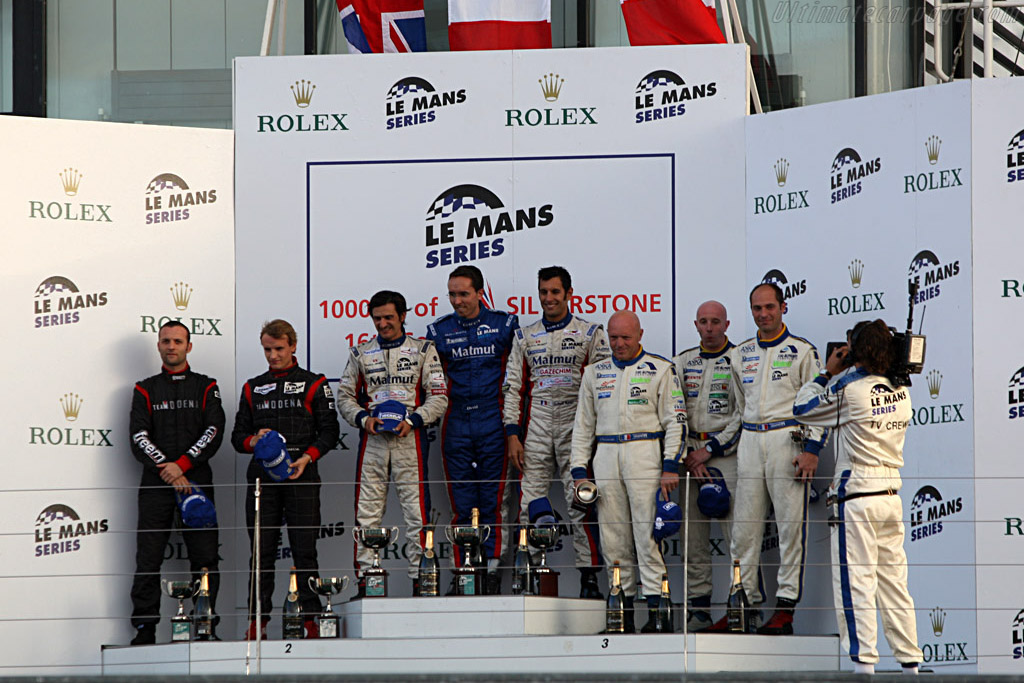 The GT1 Podium    - 2007 Le Mans Series Silverstone 1000 km