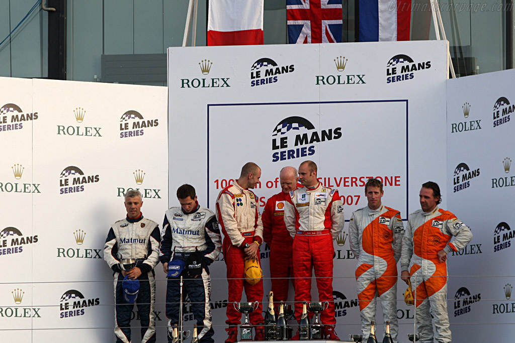 The GT2 Podium    - 2007 Le Mans Series Silverstone 1000 km