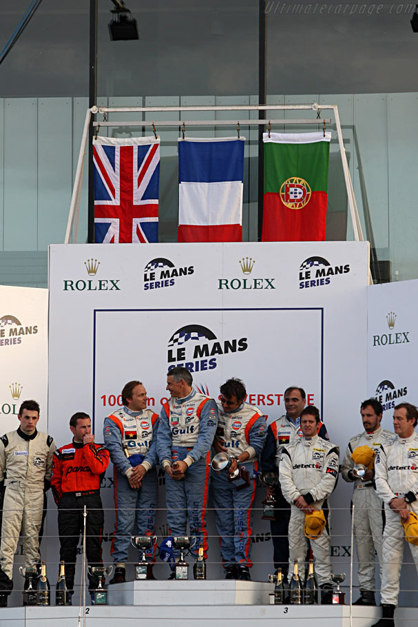 The LMP2 Podium    - 2007 Le Mans Series Silverstone 1000 km