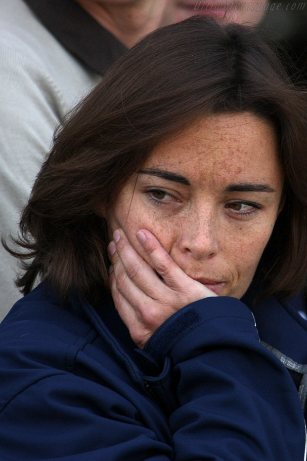 A contemplative Vanina Ickx    - 2008 Le Mans Series Silverstone 1000 km