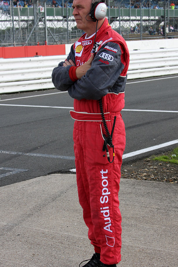 Dr Wolfgang Ulrich doing his raindance    - 2008 Le Mans Series Silverstone 1000 km