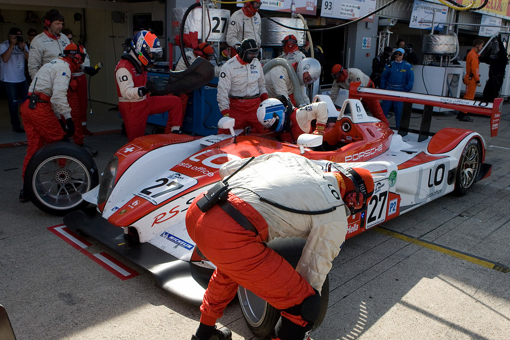 Fredy Lienhard's retirement - Chassis: 9R6 707   - 2008 Le Mans Series Silverstone 1000 km