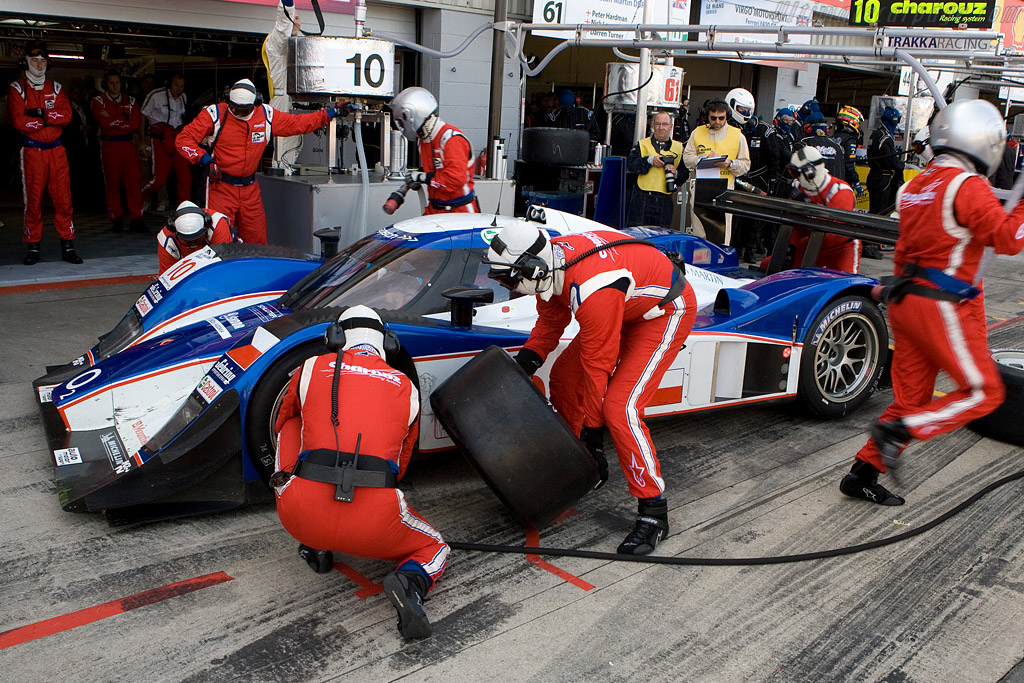 Fuel and tires for the Lola Aston - Chassis: B0860-HU02   - 2008 Le Mans Series Silverstone 1000 km