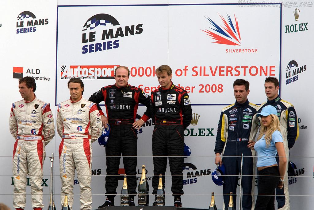 GT1 Podium    - 2008 Le Mans Series Silverstone 1000 km