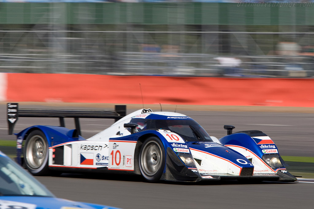 Lola Aston rushing past the pit exit - Chassis: B0860-HU02   - 2008 Le Mans Series Silverstone 1000 km