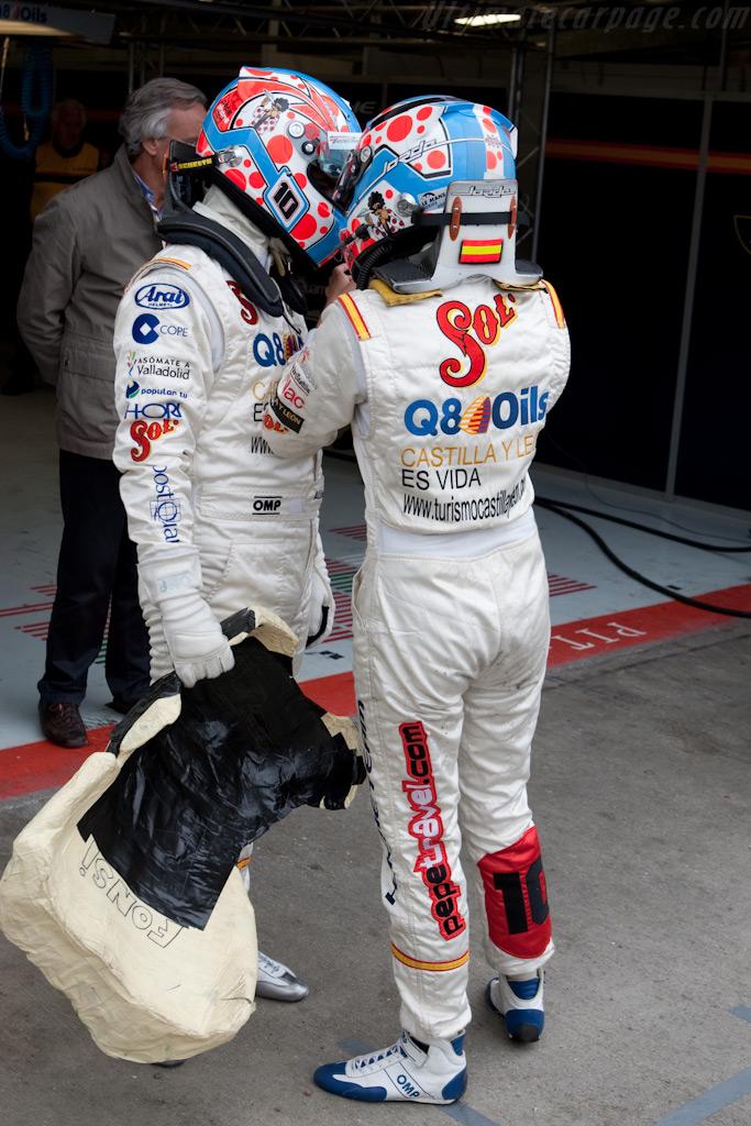 Fonsi Nieto and Carmen Jorda    - 2009 Le Mans Series Silverstone 1000 km